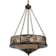 Meyda Tiffany 124801 Whispering Pines Inverted Pendant in Antique Copper finish with Silver Mica