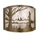 Meyda Tiffany 23886 Quiet Pond Wall Sconce in Antique Copper finish with Silver Mica