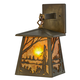 Meyda Tiffany 70680 Stillwater Quiet Pond Hanging Wall Sconce in Antique Copper finish with Amber Mica