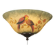 Fanimation G439 Ceiling Fan Glass Hand Painted Parrot Bowl for F423 Fitter