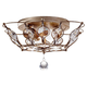Murray Feiss FM374BUS Leila Flush Mount Fixture in Burnished Silver finish with ClearClear Glass