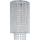 ET2 Contemporary Lighting E23131-10PC Spiral 2-light Wall Sconce in Polished Chrome finish