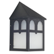 Sunset Lighting F4345-31 9 inch Wall Mount Poly with Frost Panels in Black Finish