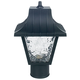 Sunset Lighting F4380-31 11 inch Post Fixture with Flem Panels in Black Finish