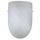 Sunset Lighting F9068-30 11 inch Faux Albt Glass in White Finish