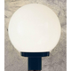 Sunset Lighting F9150-31 10 inch Post Fixture with White Acrylic Globe in Black Finish