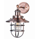 Mini Hi-Bay 1-Light Wall Sconce In Antique Copper Finish