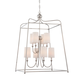 Libby Langdon for Crystorama Sylvan 8 Light White Linen Nickel Chandelier