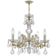 Hot Deal Collection Chandelier in Gold w/Clear Hand Cut Crystal.