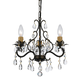 Hot Deal Collection Chandelier in English Bronze w/Clear Hand Cut Crystal.