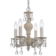 Sutton 4 Light Spectra Crystal White Mini Chandelier