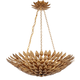 Broche Collection Chandelier in Antique Gold.