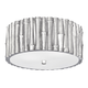 Libby Langdon for Crystorama Masefield 2 Light Silver Ceiling Mount