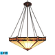 Filigree 3-Light Pendant In Aged Bronze - LED - 800 Lumens (2400 Lumens Total) With Full Scale Dim…