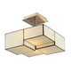 Cubist Collection 2 light semi flush in Brushed Nickel