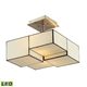 Cubist Collection 2 light semi flush in Brushed Nickel - LED - 800 Lumens (1600 Lumens Total) Wit…