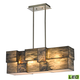 Cubist Collection 4 light chandelier in Brushed Nickel - LED - 800 Lumens (3200 Lumens Total) With…