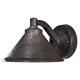 The Great Outdoors 1 Light Wall Mount In Aspen Bronze™ Metal Shade Finish