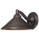 The Great Outdoors 1 Light Wall Mount In Aspen Bronze™ Finish W/Metal Shade