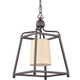 Libby Langdon for Crystorama Sylvan 1 Light Dark Bronze Pendant