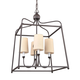 Libby Langdon for Crystorama Sylvan 4 Light Dark Bronze Chandelier