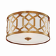 Libby Langdon for Crystorama Jennings 3 Light Aged Brass Ceiling Mount