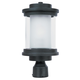 Lighthouse 1-Light Outdoor Post in Anthracite w/Clear/Frosted Glass