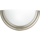 Eclipse Brushed Nickel 1-Lt. Wall Sconce with Satin white glass quarter sphere