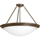 Eclipse Antique Bronze 4-Lt. close-to-ceiling with Satin white glass bowl
