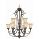 Craftmade Exteriors Barrett Place - Mocha Bronze 9 Light Chandelier in Mocha Bronze