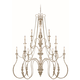 Craftmade Exteriors Zoe - Antique Linen 12 Light Chandelier in Antique Linen
