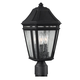 Londontowne 3 - Light Outdoor Post in Black