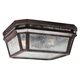 Londontowne 2 - Light Outdoor Flush in Weathered Chestnut