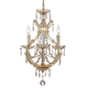 Norwalk Collection Glass Mini Chandelier in Polished Chrome w/Italian Crystal.