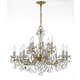 Maria Theresa 12 Light Clear Crystal Chandelier