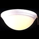Minka Aire K9375-TW Single Globe Heavy Textured White Ceiling Fan Light Fixture