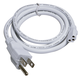 InteLED 3ft Power Cord with Plug - WHT Finish