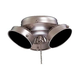 Minka Aire K33-L-BS 3 Light Brushed Steel Ceiling Fan Light Fixture