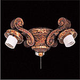 Minka Aire K36-GOW 4 Light Golden Walnut Ceiling Fan Light Fixture