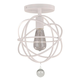 Solaris 1 Light White Ceiling Mount