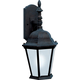 Westlake LED 1-Light Outdoor Wall Lantern in Black w/Frosted Glass