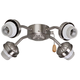 Emerson F440BS 4 Light Brushed Steel Ceiling Fan LED Light Fixture