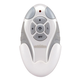 3-Speed Non-Reversing Remote Control with Light Dimmer - White
