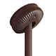 Hunter 22170 Ceiling Fan Angled Ceiling Adapter in Chestnut Brown