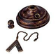 Monte Carlo MC83TB Ceiling Fan Bowl Cap and Finial in Tuscan Bronze