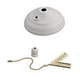 Monte Carlo MC83WH Ceiling Fan Bowl Cap and Finial in White