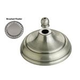 Monte Carlo MC97BP Ceiling Fan Bowl Cap and Finial in Brushed Pewter