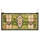 Meyda Tiffany 98463 Tulips Transom Stained Glass Window in Copperfoil finish