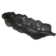 Uttermost Smoked Leaf Glass Tray