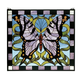 Meyda Tiffany 46464 Butterfly Stained Glass Window in Copperfoil finish